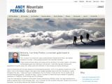 Home page screenshot of Andy Perkins - Mountain Guide