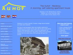 Home page screenshot of The Auhof - Niederau