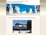 Home page screenshot of Luxury Apartment in Flachau