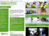 Home page screenshot of Avoriaz Alpine Ski School