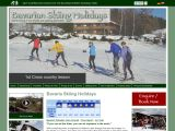 Home page screenshot of Bavarian Skiing Holidays