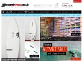 Home page screenshot of Boardshop.co.uk