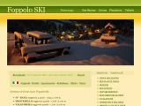 Home page screenshot of Ski Foppolo