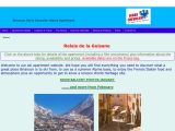 Home page screenshot of Briancon Ski Apartment
