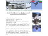 Home page screenshot of Bulgaria Ski Apartments - Pamporovo