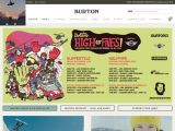Home page screenshot of Burton Snowboards