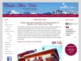 Home page screenshot of Chalet Alice Velut