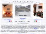 Home page screenshot of Hotel Chalet Alpina