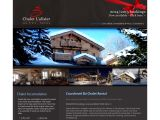 Home page screenshot of Chalet L'Alisier