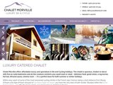 Home page screenshot of Chalet Morville