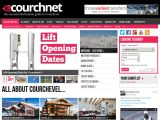 Home page screenshot of Courchnet