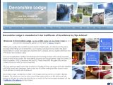 Home page screenshot of Devonshire Lodge