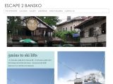 Home page screenshot of Escape 2 Bansko Apartment