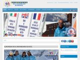 Home page screenshot of European Ski School