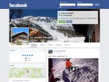 Home page screenshot of Le Grand Paradis Chalet