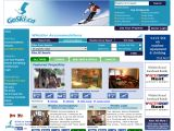Home page screenshot of Go Ski Canada