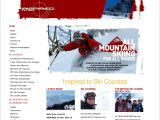 Home page screenshot of Inspired to Ski