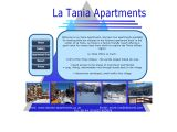 Home page screenshot of La Tania Apartments