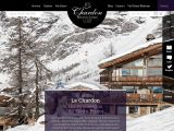 Home page screenshot of http://www.lechardonvaldisere.com/