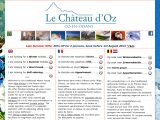 Home page screenshot of Le Chateau d'Oz