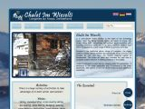 Home page screenshot of Chalet Im Wieselti