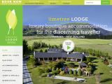 Home page screenshot of http://www.limetreelodge.co.nz/
