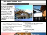 Home page screenshot of Luxury Chalet - Hinterthal