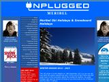Home page screenshot of Meribel Unplugged