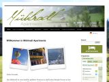 Home page screenshot of Muehlradl Holiday Apartments - Gosau