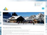 Home page screenshot of Bansko Chalets
