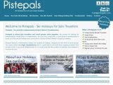 Home page screenshot of Pistepals.com