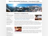 Home page screenshot of La Marmotte Penthouse