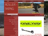 Home page screenshot of Rollerskiing.co.uk