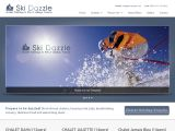 Home page screenshot of Ski Dazzle