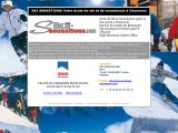 Home page screenshot of Ski Sensations