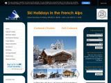 Home page screenshot of Ski Amis
