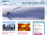 Home page screenshot of Ski and Snowboard Slovakia