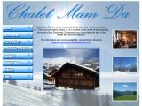 Home page screenshot of Ski Chalets Diablerets