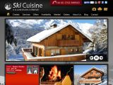 Home page screenshot of Ski Cuisine
