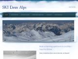 Home page screenshot of SkiDeuxAlps