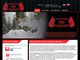 Home page screenshot of Ski Jasna