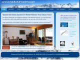 Home page screenshot of Ski Mottaret