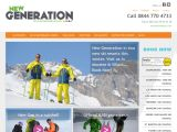 Home page screenshot of New Generation