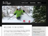 Home page screenshot of Ski Olympic