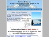 Home page screenshot of Ski Pros St Gervais - Independent Ski Instructor