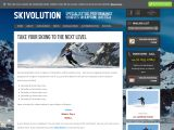 Home page screenshot of Skivolution
