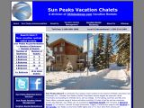 Home page screenshot of Sun Peaks Vacation Chalets