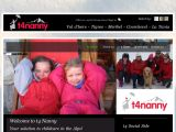Home page screenshot of T4 Private Nanny Services