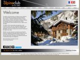 Home page screenshot of The Alpine Club - Indulgent winter holidays