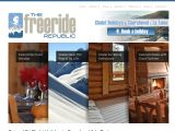 Home page screenshot of TheFreerideRepublic